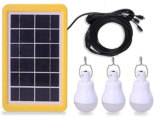 KK.BOL Lampada Solare Portatile LED Lampadina Pannello Solare Alimentato Ricaricabile Solar Led Luci Lampada Sensore Luce 3GS-1200