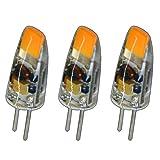 3x Stück - G4 mini LED 1,5 Watt 12V AC/DC warmweiß aus Silikon (Silica Gel) Lampe Leuchte Leuchtmittel Halogenersatz dimmbar