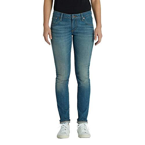 Kuyichi Damen Jeans Lisa Slim Bio-Baumwolle, Authentic-Blue, 31/32