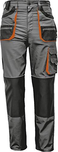 Stenso des-Emerton - Pantaloni da Lavoro - Uomo - Grigio/Nero/Arancione - 48