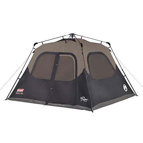 Coleman 6-Person Cabin Tent with Instant Setup | Cabin Tent for Camping Sets Up in 60 Seconds