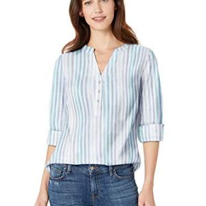 Amazon Essentials Women's Relaxed-Fit Lightweight 3/4 Sleeve Cotton Popover Tunic 13