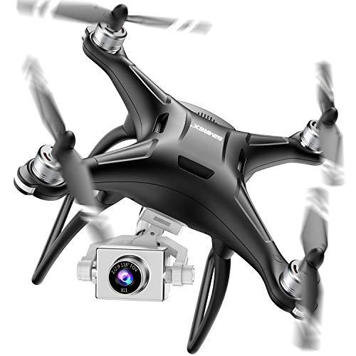 SIMREX X11 Drone GPS amlior avec camra HD 1080P 2 axes Auto-stabilisateur pour cardan 5G WiFi FPV vido RC Quadricoptre Retour automatique la maison avec suivi de moi Altitude