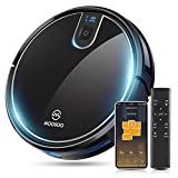 MOOSOO Robot Vacuum, Wi-Fi Connectivity, Easily Connects with Alexa or Google Assistant and Using Voice Control, Super Thin Robotic Vacuum Cleaner, 120Mins Max Run Time, Automatic Self-Charging Vacuum MT-710