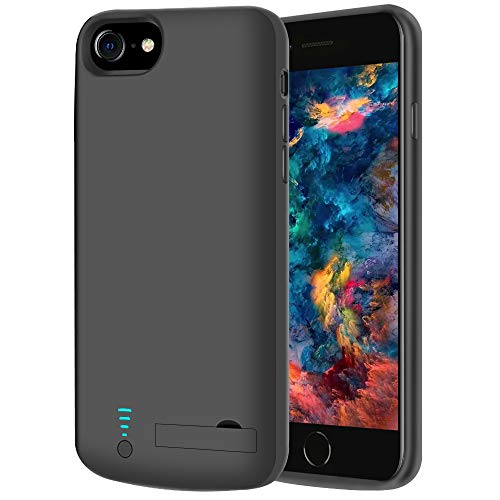 RUNSY Battery Case Compatible with iPhone SE 2020/8 / 7 / 6S / 6, 5500mAh Rechargeable Extended Battery Charging Case, External Battery Charger Case, Adds 2X Extra Juice, Support Wired Headphones