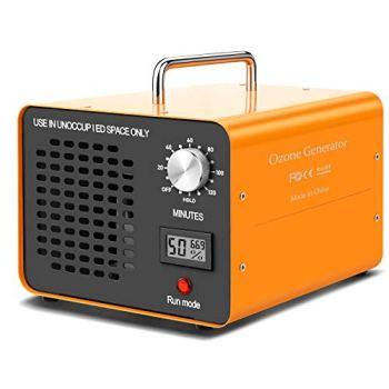 DONGQIMI Generador de Ozono 10,000 MG/h, Purificador Ozono de Aire Ozonizadores para Desinfectar y Purificar el Aire Eliminando Virus, Hongos, Bacterias, Alérgenos, Olores ácaros