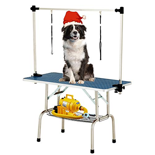 SUNCOO 48 Inch Portable Pet Dog Grooming Table for...