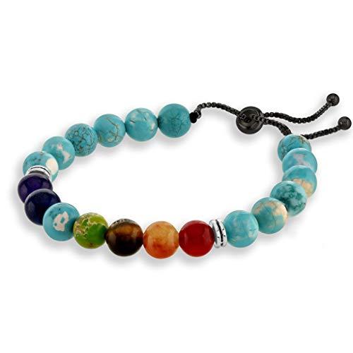 Believe London Turquoise Chakra Stone Bracelet in Gift Box |...
