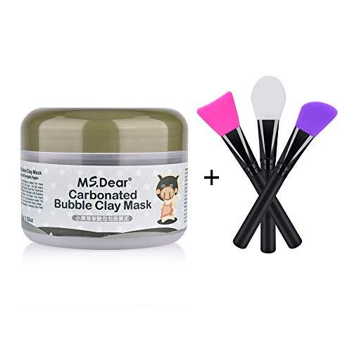 MS.DEAR Bubble Clay Cream Bubbles Mud Cream Moisturize Deep Cleansing Cream 3.52 oz