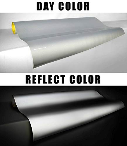 3M Reflective White Silver Adhesive Craft Vinyl Sheet 12 Inch x 30 Inch Roll Pack for Silhouette, Cricut and Cameo (12' x 30' Roll)