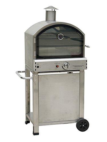 Tecknogas Priapo Forno a Gas con Piastra per Pizza e Barbecue, Metallo, Grigio, 80 x 68 x 143 cm