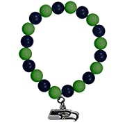 Officially licensed product licensee: Siskiyou buckle Brightly colored team beads Stretches to fit comfortably on most wrists Perfect game day accessory Team charm with enameled team colors Officially licensed NFL product Brightly colored team beads ...