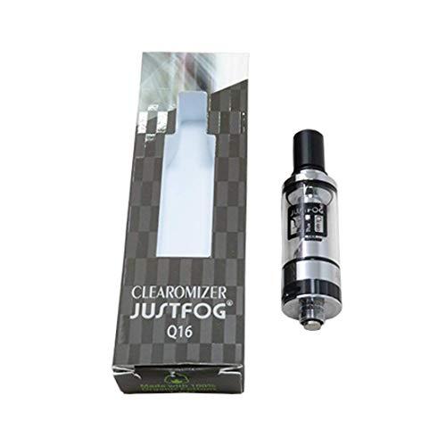 JUSTFOG ジャストフォグ Q16 クリアロマイザー 1.6Ω 1.9ml 電子タバコ シルバー