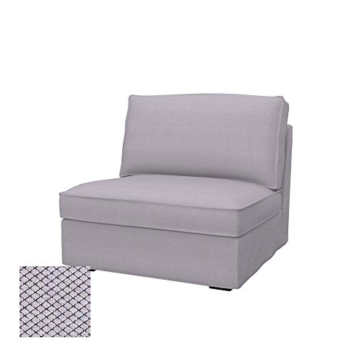 Soferia Fodera Extra Ikea KIVIK Divano a 1 posti, Tessuto Nordic Light Grey