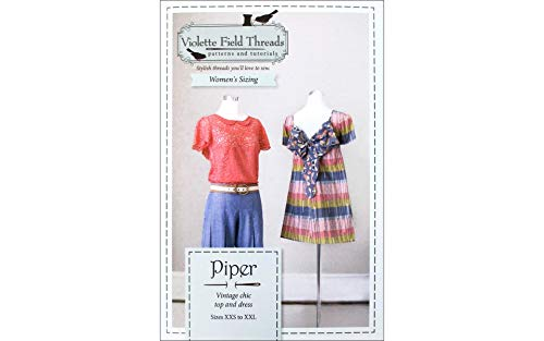 Violette Field Threads Piper Dress Misses Ptrn, XXS - XXL, White