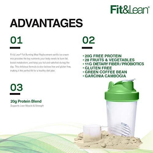 Fit & Lean Fat Burning Meal Replacement, Vanilla, 0.97 lb 5