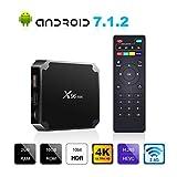 Android 7.1.2 TV Box, X96 Mini Android TV Box - 2GB RAM+16GB ROM AMLOGIC S905W Quad-core Cortex-A53 with WiFi 2.4GHz / H.265 4K HD Smart Media Player