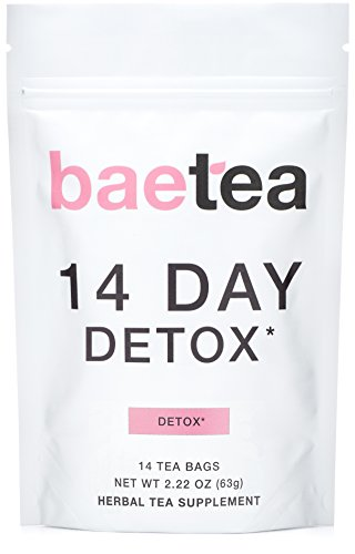 Baetea 14-Day Teatox Herbal Detox Tea Supplement with Green Tea & Ginger Root, 14 Tea Bags 1 - My Weight Loss Today