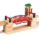 Brio World - 33757 - Pont basculant - Accessoire pour circuit de train en bois -...