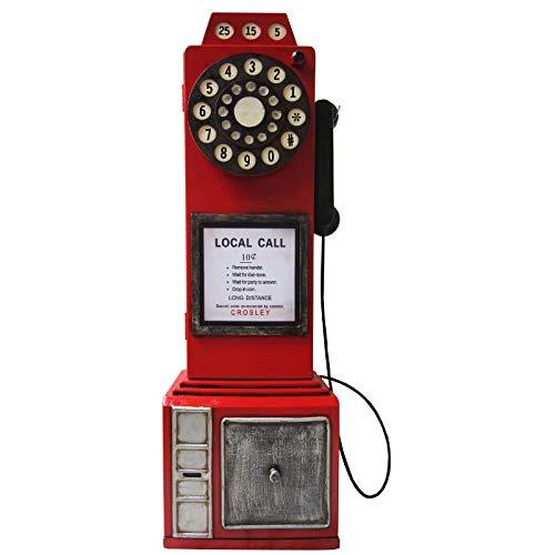 'Retro Vintage aufbewahrung armadio/CD DVD'inglese nostalgisches Cellulare–Rosso