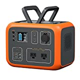 MAXOAK Power Station 500Wh Solar Generator Bluetti AC50S Wireless Charging Battery Backup for Outdoor Tailgating Camping RV Trip Power Outage(Dual AC Outlet,Pure Sine-wave,PD 45W USB-C, LED Lighting)