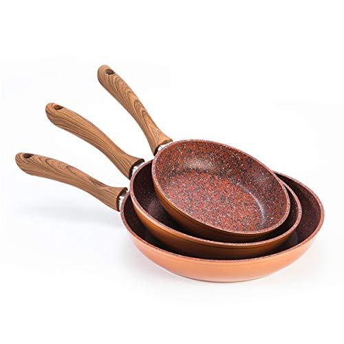 MediaShopping Set padelle Copper Stone 20/24/28 cm, Adatte ad Ogni Tipo di fornello: Induzione, Gas, Elettrici, in Ceramica, Anche in Forno a 150 C.