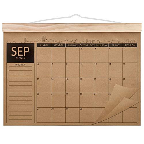 Norjews Kalender 2020-2022, 18-monatiger Familienplaner Kalender, Dickes Kraftpapier Wandkalender, Schreibtischunterlage Kalender Sep. 2020–Feb. 2022 (42 x 31cm)
