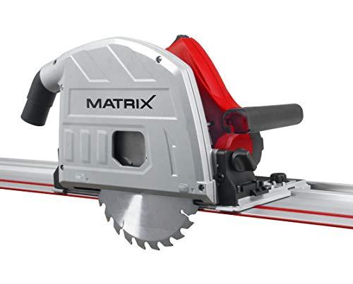 Matrix Tauchsäge, 1200 Watt, inkl. 2 Führungsschienen, Staubsauger Adapter, Sägeblatt, Sicherheitsabdeckung