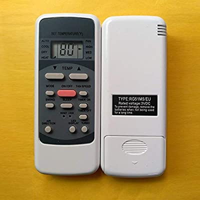 """""""RG51M5/EU"""" Please make sure your old MILEXUS air conditioner remote control model number is """"RG51M5/EU"""" Display in Fahrenheit No battery included"""