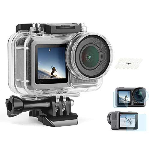 SHOOT Custodia Impermeabile da 30m/98ft con Pellicola Temperata Protettiva HD per Action Camera DJI OSMO Kit di Accessori