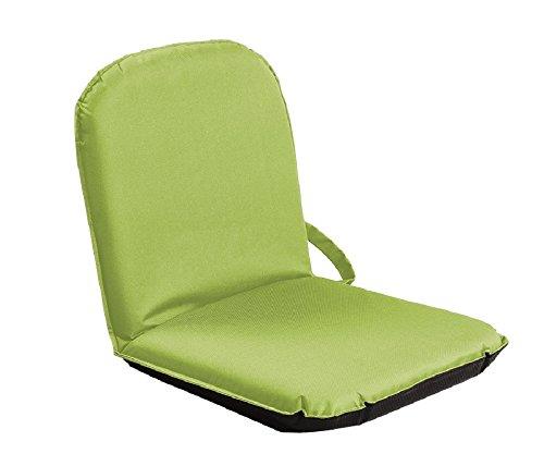 Sitzfix, Bodensitzkissen, Bodenstuhl Outdoor mit Verstellbarer Rückenlehne grün