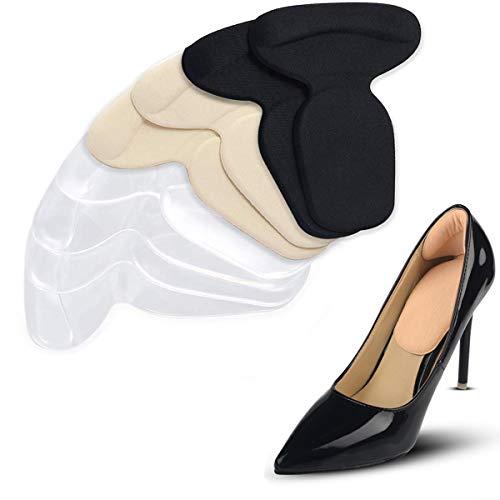 Mnioky 4 Paires Inserts Coussins Talon Chaussures à Talons Hauts ou les Chaussures Trop Grandes, Poignées à Talons Hauts Coussinets de Chaussures Soulager la Douleur Anti-Slip Respirant