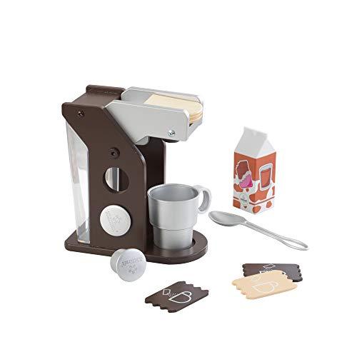 Kidkraft 63379 espresso - Set Macchina per espresso Giocattolo, con Accessori, per Bambini, Marrone