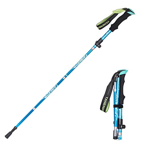Baomasir Bastone da trekking – ultraleggero, cinturino da polso regolabile, impugnatura ergonomica...