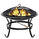 ZENY Fire Pit 22'' Outdoor Fire Pits Wood Burning Patio Fire Bowl BBQ Grill Firepit with Mesh...