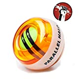 Parallel Halo Power Wrist Ball AUTO Start Wrist Exercises Force Ball Gyroscope Ball Wrist and Forearm Exerciser Arm Strengthener for Stronger Muscle and Bones Orange Without LED