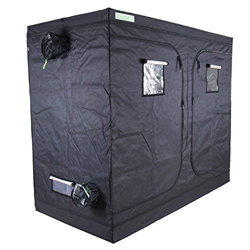 "zazzy 96""X48 X78 Plant Growing Tents 600D Mylar Hydroponic Indoor Grow Tent"
