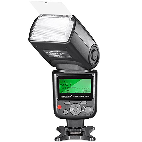Neewer 750II TTL Flash Speedlite with LCD Display for Nikon D7200 D7100 D7000 D5500 D5300 D5200 D5100 D5000 D3300 D3200 D3100 D3000 D700 D600 D500 D90 D80 D70 D60 D50 and Other Nikon DSLR Cameras
