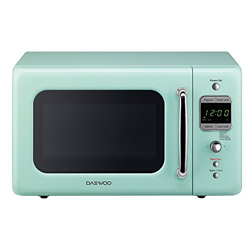 Daewoo KOR-7LREM Retro Countertop Microwave Oven 0.7 Cu. Ft., 700W | Mint Green