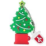 BorlterClamp Memoria USB de 32 GB, Lindo Unidad Flash USB Patrn de rbol de Navidad USB Memory Stick, Regalo para Estudiantes y Nios
