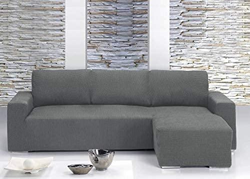 Il Dolce Stile della tua Casa - Copridivano universale con penisola per divani con penisola a destra o sinistra (Panna, Penisola a Destra)