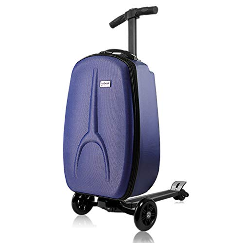 iubest Scooter Luggage for Adult Carry on Suitcase Foldable Trolley Case Bags for Travel, Business and School Men 50 liter, 18 inches