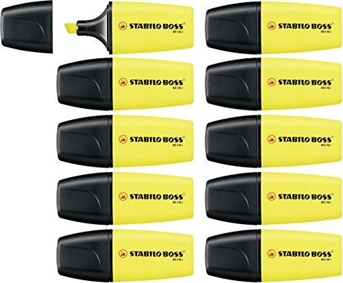 Textmarker - STABILO BOSS MINI - 10er Pack - gelb