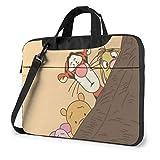 XCNGG Winnie The Pooh Maletín para portátil de Negocios para Hombres y Mujeres, Bandolera de Hombro, Funda para portátil, Bolsa de Transporte, 15,6 Pulgadas