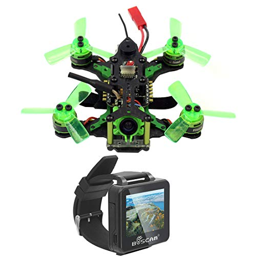 FEICHAO Mantis 85 Micro FPV Racing Drone Quadricottero con Ricevitore Frsky / Flysky F4 Flight Controller con FPV Watch Monitor TFT Versione BNF (con Frsky Receiver)