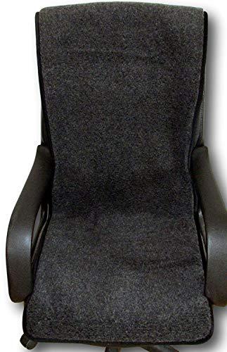 Sesselschoner anthrazit 100{5b70a65f836f26ca83641f212ac410aa01eeb109355fb47ac32b2fdf6a0241e5} Merinowolle 50x200cm, Sitzauflage, Sesselüberwurf, Überwurf, Sesselauflage