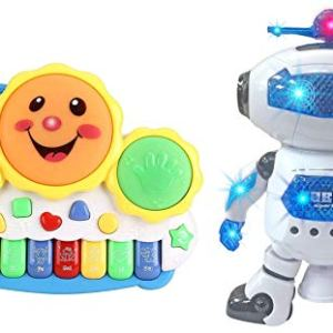 Smiley Piano and Dancing robot for kids | piano and robot for kids