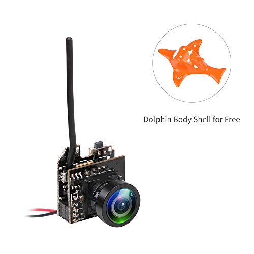 Makerfire Mini AIO FPV Telecamera 800TVL CMOS NTSC/Pal Trasmission Video per Micro FPV Multicopter Racing Drone Come Tiny Whoop Blade Inductrix, Armor 65 Lite