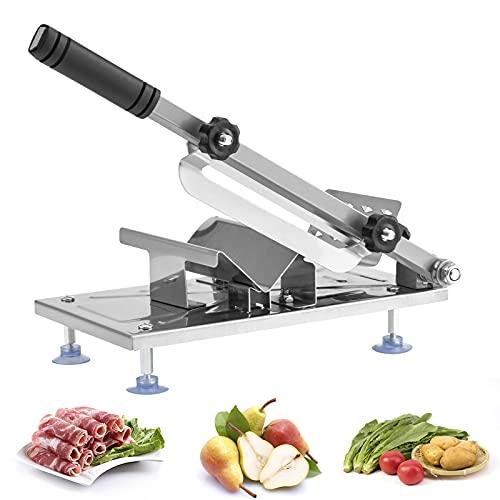 Kesntto, taglia ossa per coste, in acciaio inossidabile, taglia manuale, regolabile, affettatrice per carne, congelata e tritatutto per verdure.