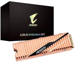 Gigabyte AORUS NVMe Gen4 M.2 1TB PCI-Express 4.0 Interface High Performance Gaming, Full Body Copper Heat Spreader, Toshiba 3D NAND, DDR Cache Buffer, 5 Year Warranty SSD GP-ASM2NE6100TTTD